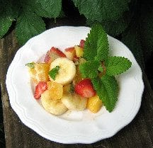 Lemon Balm Fruit Salad Recipe